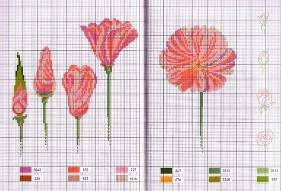Мобильный LiveInternet Цветочная вышивка. Схемы | Agnishanti - Блог созерцателя Agnishanti |
