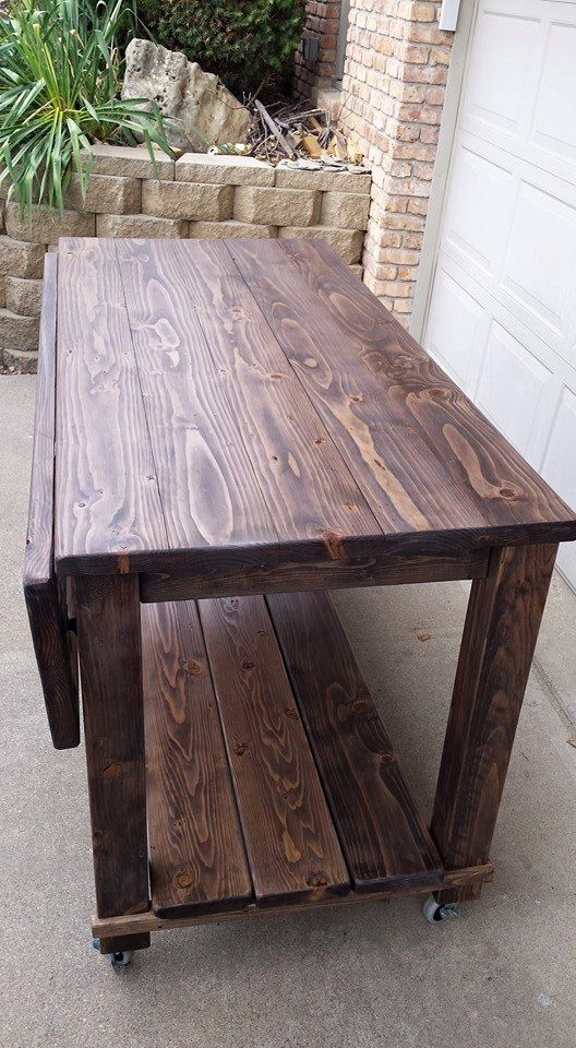 Wood Kitchen Island Rustic Wood And Leaves On Pinterest