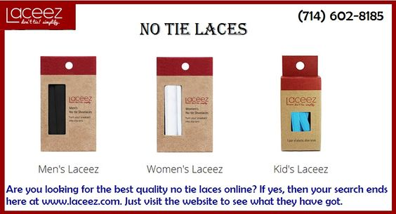 Are you looking for the best quality no tie laces online? If yes, then your search ends here at http://www.laceez.com/. Just visit the website to see what they have got.