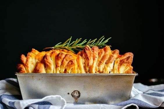 Double Cheese and Rosemary Pull Apart Bread