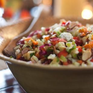 """eat with a spoon"" chopped salad"