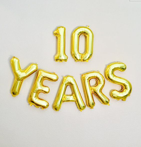 10 YEARS Balloon