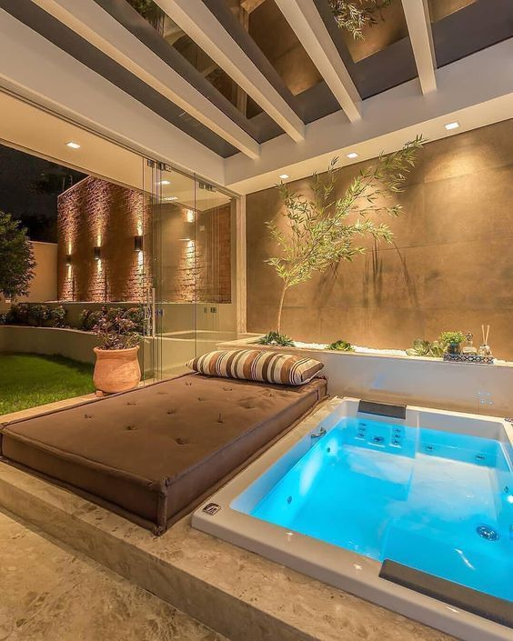 Mesmerizing Modern Hot Tub Ideas For Your Reference Decortrendy Hot Tub Room Modern Hot Tubs Indoor Hot Tub