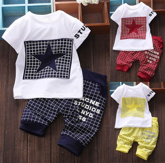 Baby boy clothes 2016 New summer kids clothes sets t-shirt+pants suit clothing set Star Printed Clothes newborn sport suits♦️ SMS - F A S H I O N  http://www.sms.hr/products/baby-boy-clothes-2016-new-summer-kids-clothes-sets-t-shirtpants-suit-clothing-set-star-printed-clothes-newborn-sport-suits/ US $5.89