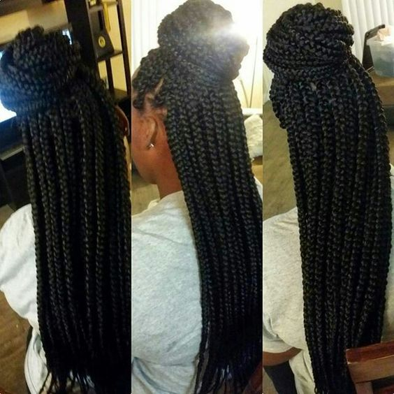 Jumbo Box Braids Box Braids And Braids On Pinterest