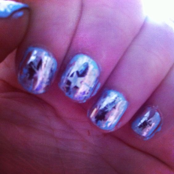 Frozen inspire Nail art