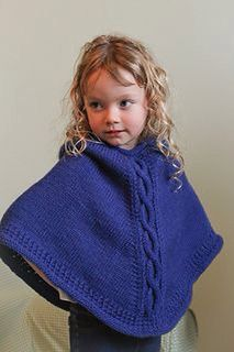 Knitting Pattern For A Little Girl s Cape : Ponchos on Pinterest