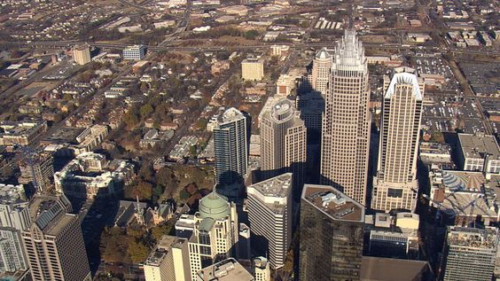 Charlotte, North Carolina. Aerial photograph. [From Aerial America]