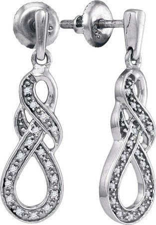 Sterling Silver 0.12CT-DIA FASHION EARRING