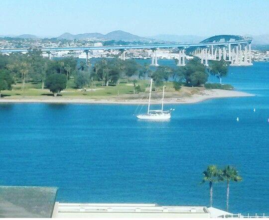 Coronado Shores ⛵ ... see fulm story at  http://flacawayoflife.blogspot.mx/2016/01/coronado-shores-and-im-sick.html?m=1 ... #latepost #post #blog #blogger #coronadobay #coronado #sea #bridge #bluesky #usa #sandiego #SD #nature #boats #mewiththeflu #story