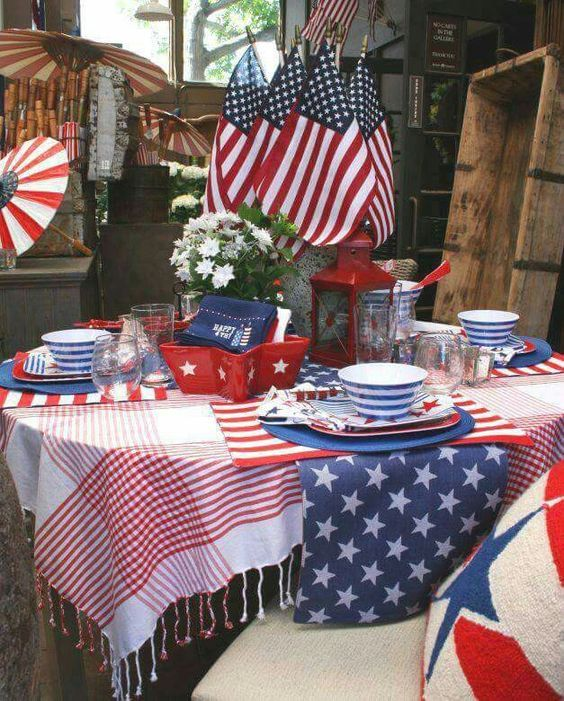 28 Stunning Rustic Style Fourth Of July Independence Day Decor Ideas Fourth Of July Decor 4th Of July Decorations Fourth Of July