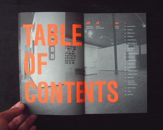 Table-of-Contents-Design: Exhibition Catalog Design