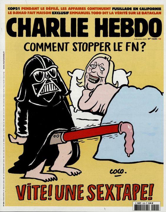 Charlie Hebdo - # 1220 - 9 Décembre 2015 - Couverture : Coco