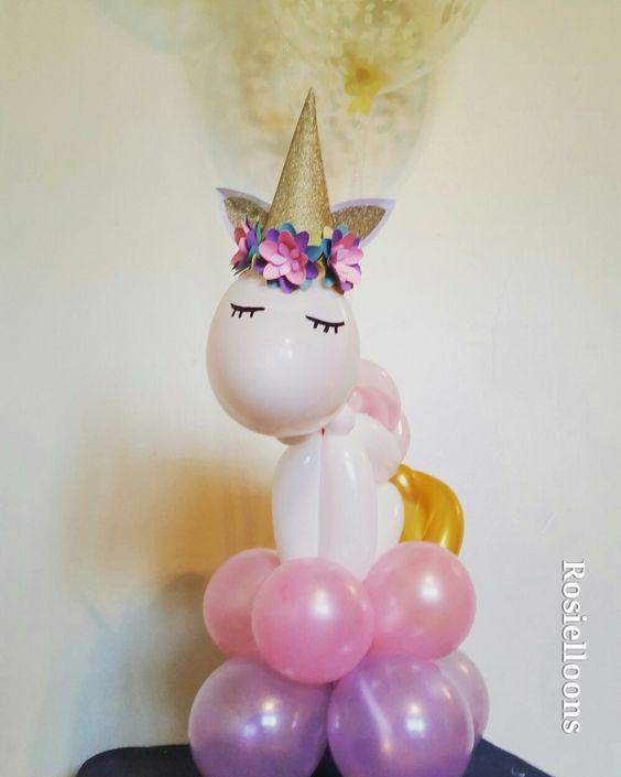 Unicorn Table Balloons