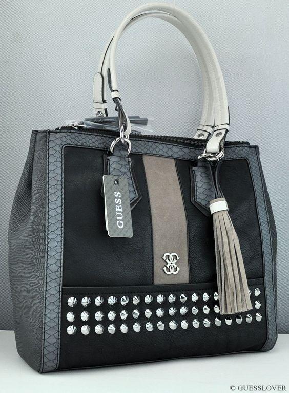New Guess Luxury Handbag Ladies Knoxville Black Satchel Bag Purse Usa Women S Handbags Bags