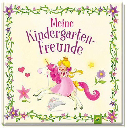 """Freundebuch /""""Meine-Kindergarten Freunde/"""" Prinzessin Eintragebuch Mädchen"""