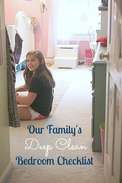 Kids 39 deep cleaning bedroom checklist fun for kids study tips and trains for How to deep clean your bedroom