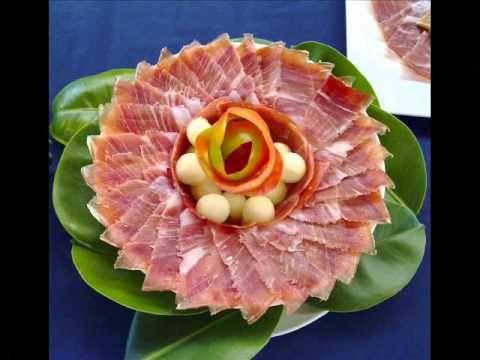 platos decorados con jamon y queso - Buscar con Google