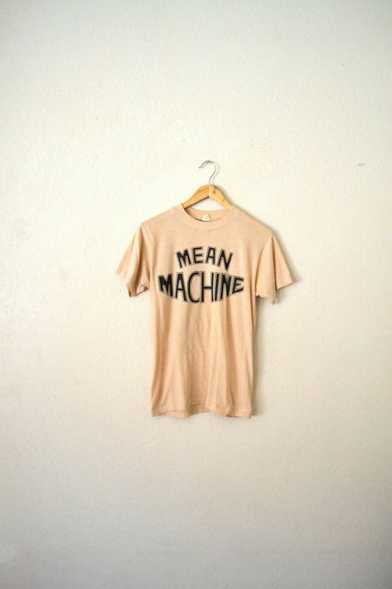 """RESERVED...................70's """"Mean Machine"""" Graphic T-Shirt"""