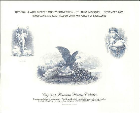 B269 BEP Souvenir Card NWPMC 2003 Patriotism Intaglio Print