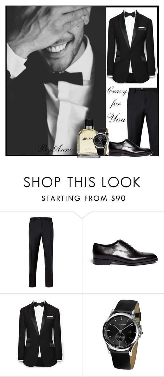 """Crazy for you ;)"" by anne-977 ❤ liked on Polyvore featuring Giorgio Armani, Ted Baker, MANGO, Emporio Armani and anne977mood"