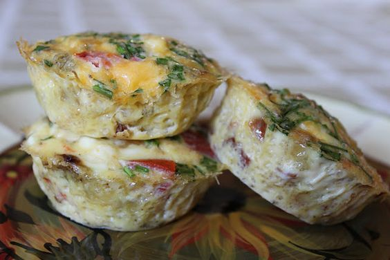 Baked mini omelets - great idea for a brunch get together or holiday breakfast