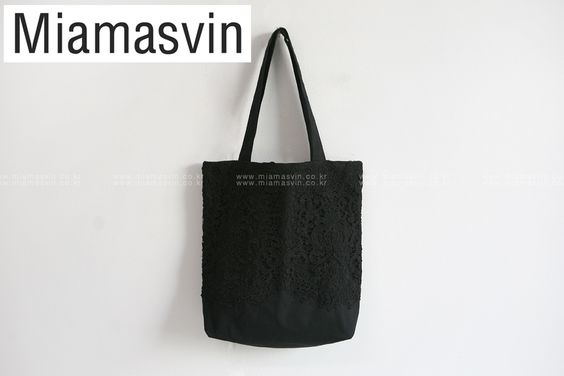 Lace Shell Tote Bag