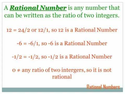 Rational Numbers: 7th grade math - YouTube