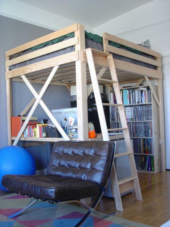 Lit mezzanine deux places fonctionalit et variantes - Custom loft beds for adults ...