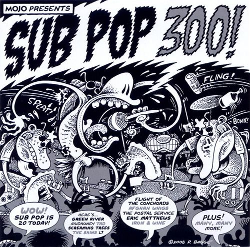 Peter Bagge's cover for Sub Pop 300