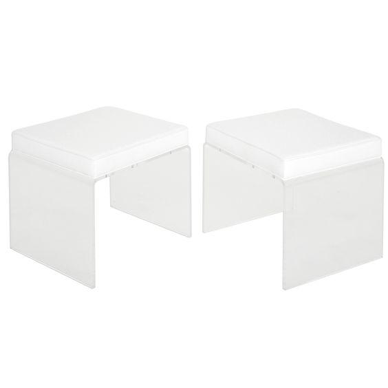 Lucite stool pair