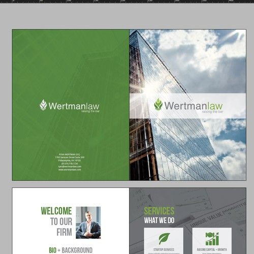 Promotional Material For Entrepreneurial Lawyer 4 6 Page Booklet
