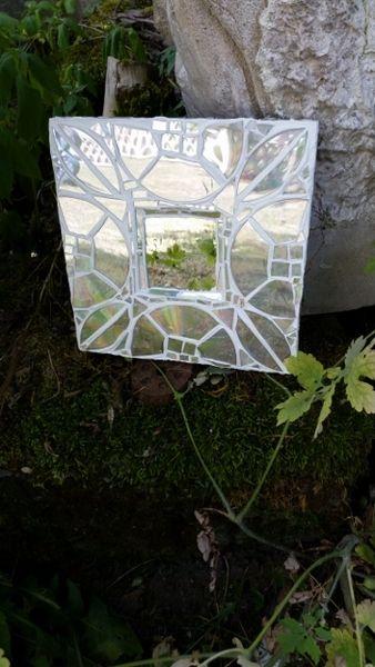 Mosaik - Spiegel und CD Collage  - ein Designerstück von Mona-von-Meding bei DaWanda