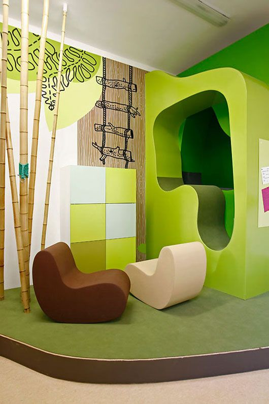 Colorful children hospital interior by dan pearlman for Interior designs play