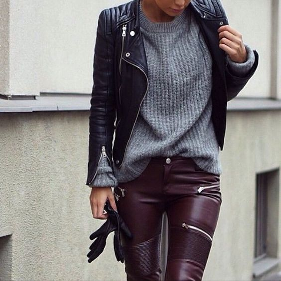 leather pants: