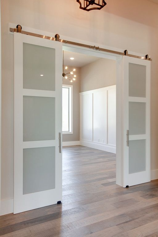 3 Panel Frosted Glass Barn Doors To Study Dreamhome Interior Interiors Interiordesign Dfw Dallas Greenhome Customhome Archit Interior Home Home Decor