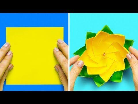 How to make 3d origami Vase 2 (model 2) - YouTube   360x480