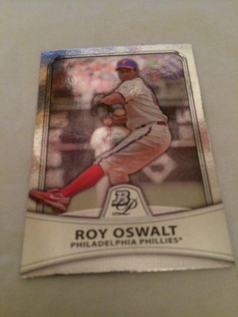 2010 Bowman Platinum Moments Roy Oswalt Phillies Baseball Card Foil #78 MT #PhiladelphiaPhillies