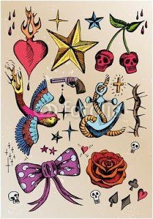 ALL FORMS TATTOS: Tatuaż wzory w kolorze tatuaż serce gwiazda poziomki ptak…