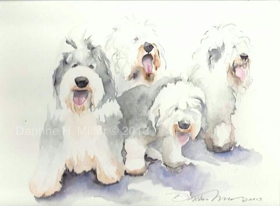 Oes painting | Old English Sheepdog | Pinterest | Paintings