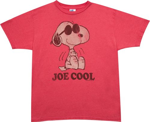 cool t shirts snoopy joe cool by junk food t shirt. Black Bedroom Furniture Sets. Home Design Ideas