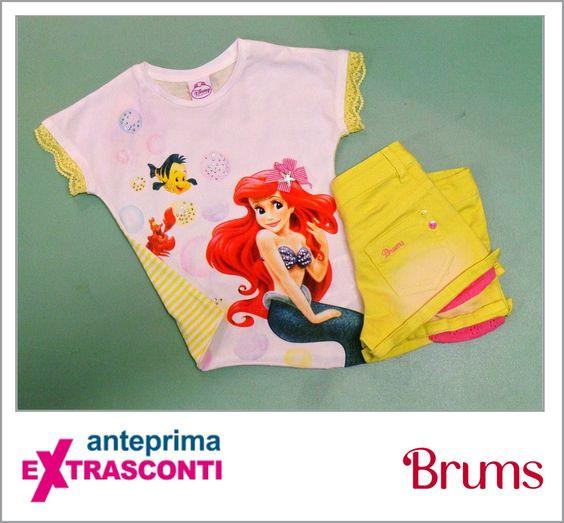 #Tshirt #Disney #sirenetta / #little #mermaid #Brums #Original: 32.90€ #Outlet #Price: 23€ #Extrasconti: 16.10€ #Denim #Shorts   Original price: 36.90€ Outlet price; 25.80€ Extrasconti: 18€ #Available at Brums - store number 76 Disponibile presso Brums - civico 76 http://www.palmanovaoutlet.it/it/outlet/negozi/brums-mek