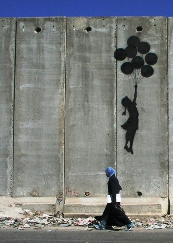 Bansky, West Bank wall