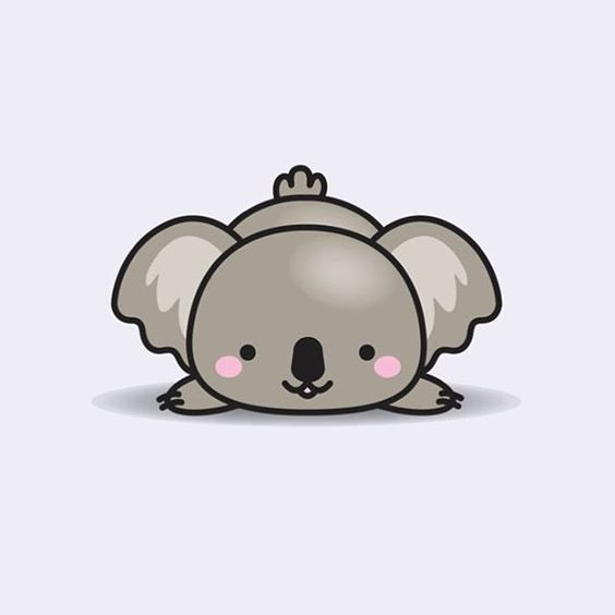 Pin By Natty Lol On Dibujo X Kawaii 3 Koala Illustration Koala Drawing Cute Drawings