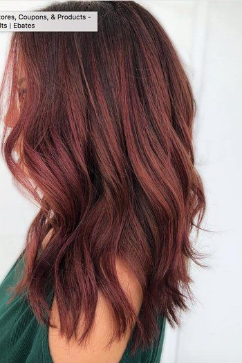 Dark Red Hair Color Looks That Are Trending This Year Red Balayage Hair Dark Red Hair Color Hair Color Auburn