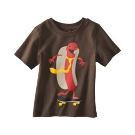 Baby T-shirt.  Hot Dog on a Skate Board.  Why not?  from Target!