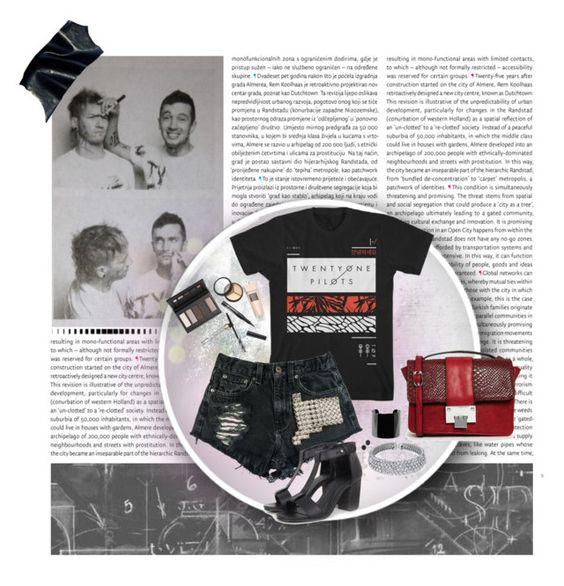 """Band T-Shirt"" by irenelg ❤ liked on Polyvore featuring Oris, Dot & Bo, Urban Eclectics, Bling Jewelry, MANGO, Kendra Scott, Borghese and Liquorish"