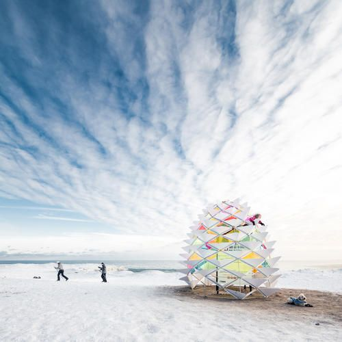 1   This Lifeguard Tower Becomes An Igloo When It Snows   Co.Design   business + design Snowcone Winterstations