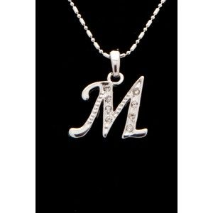 M Letter In Silver M in, Letters a...