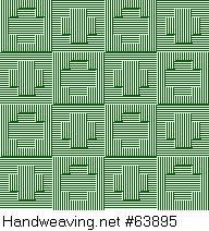 Drawdown Image: Figurierte Muster Pl. XLVIII Nr. 2 (a) Motif 12, Die färbige Gewebemusterung, Franz Donat, 6S, 6T